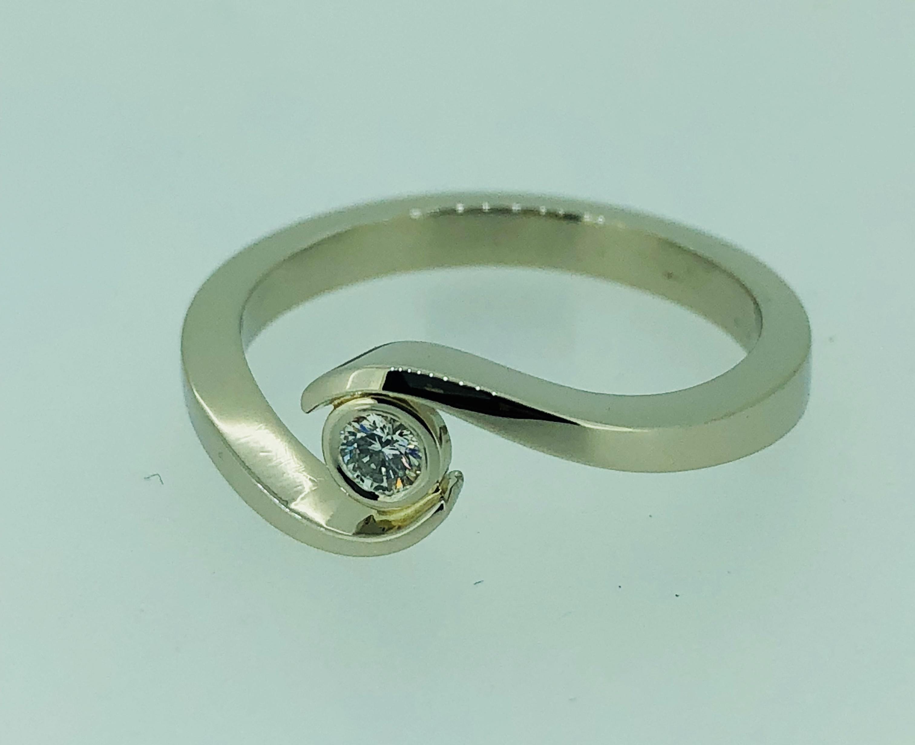 Sužadėtuvių žiedas dizainas 6