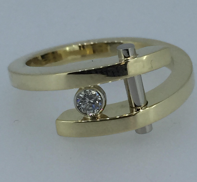 Sužadėtuvių žiedas dizainas 2